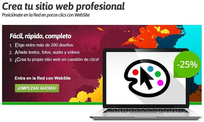 Creador Sitio Web Profesional Nominalia