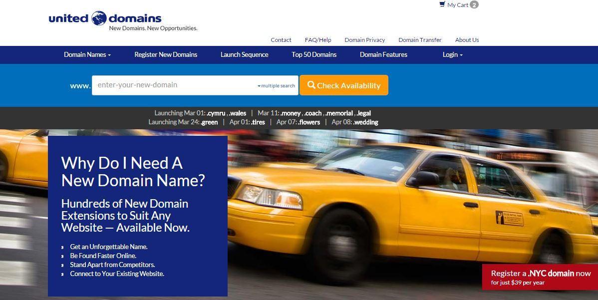 Comprar Dominio en UnitedDomains.com