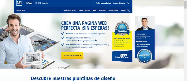 Crea tu página web profesional con 1and1 Mi Web