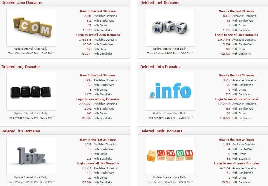 conseguir dominios expirados con Expired Domains