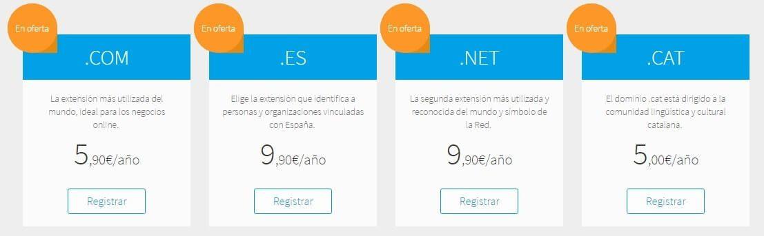 registrar dominio web