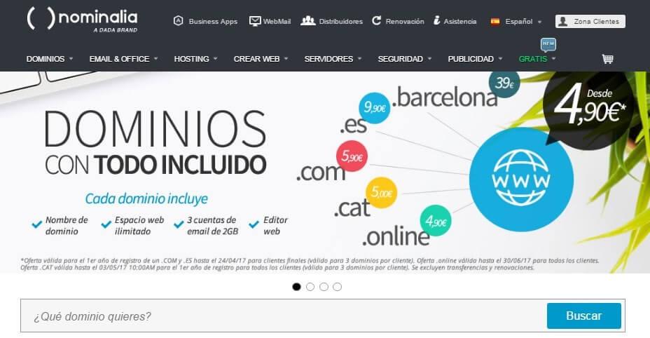 registro de dominios web