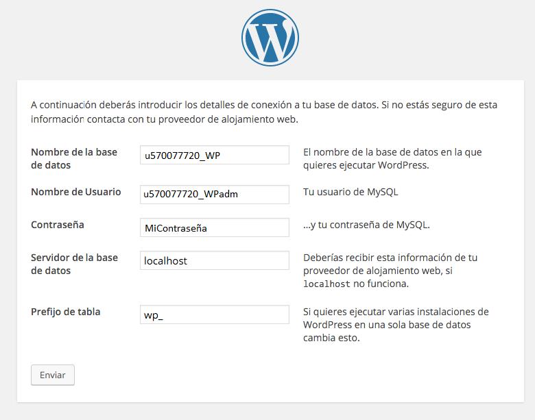 como instalar wordpress en un servidor