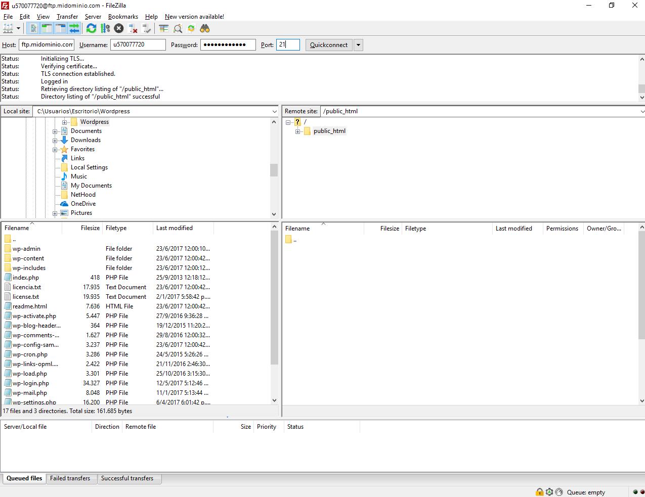 subir wordpress a servidor