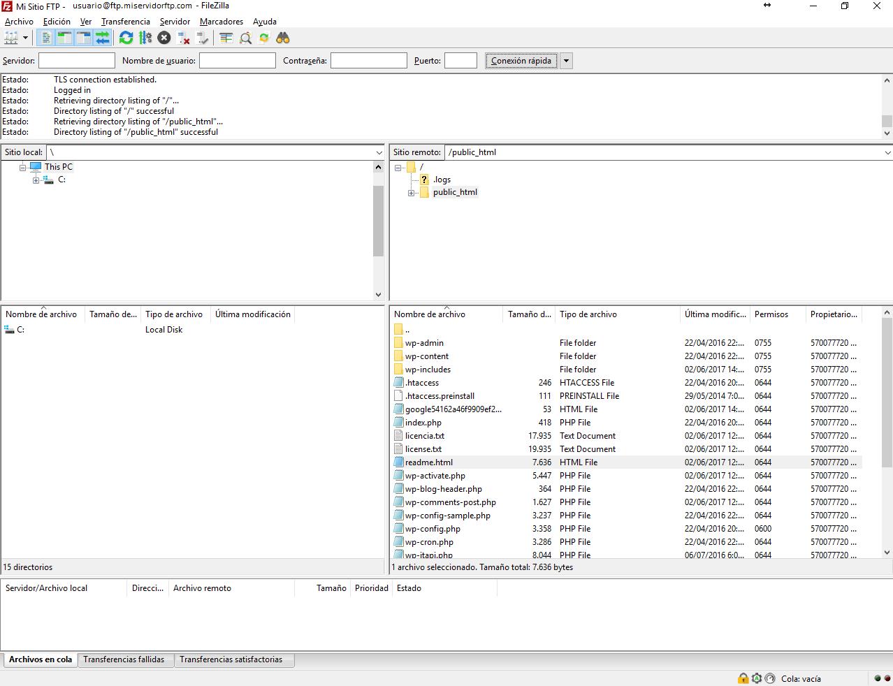 cliente ftp windows