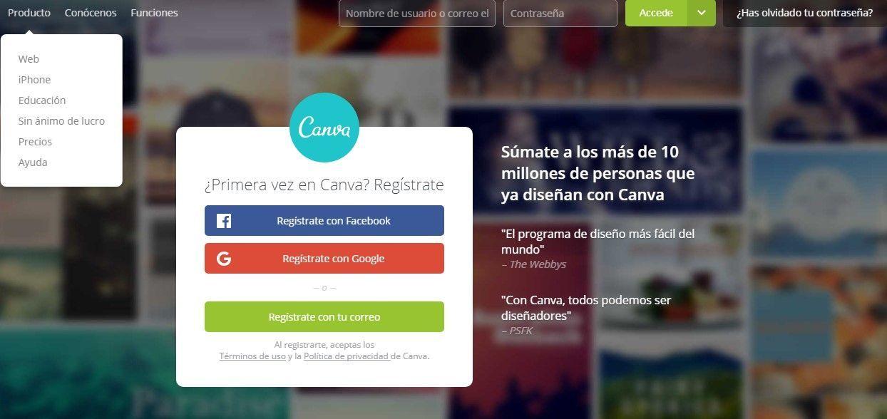 canva diseño web